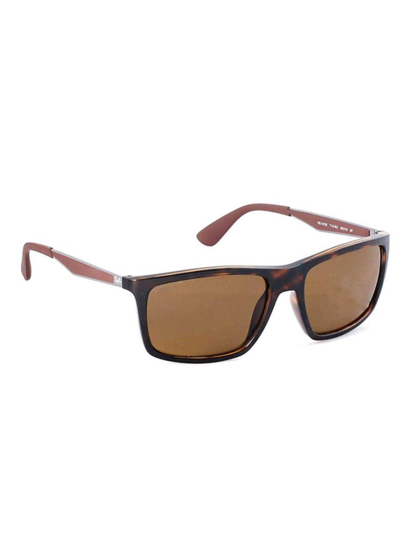 043a4489df Shop Ray-Ban Rectangular Frame Sunglasses RB4228 710 83 58 online in ...
