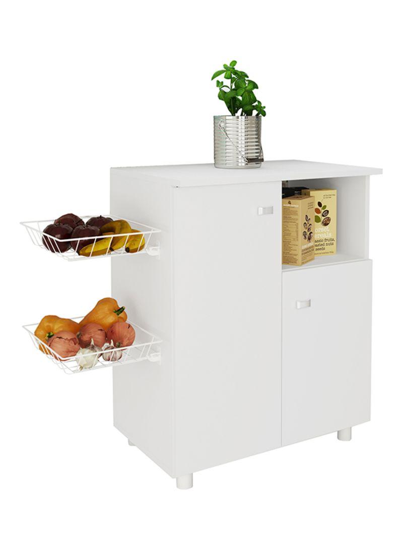 Shop Tecnomobili Storage Cabinet With 2 Doors And 2 Metal Baskets