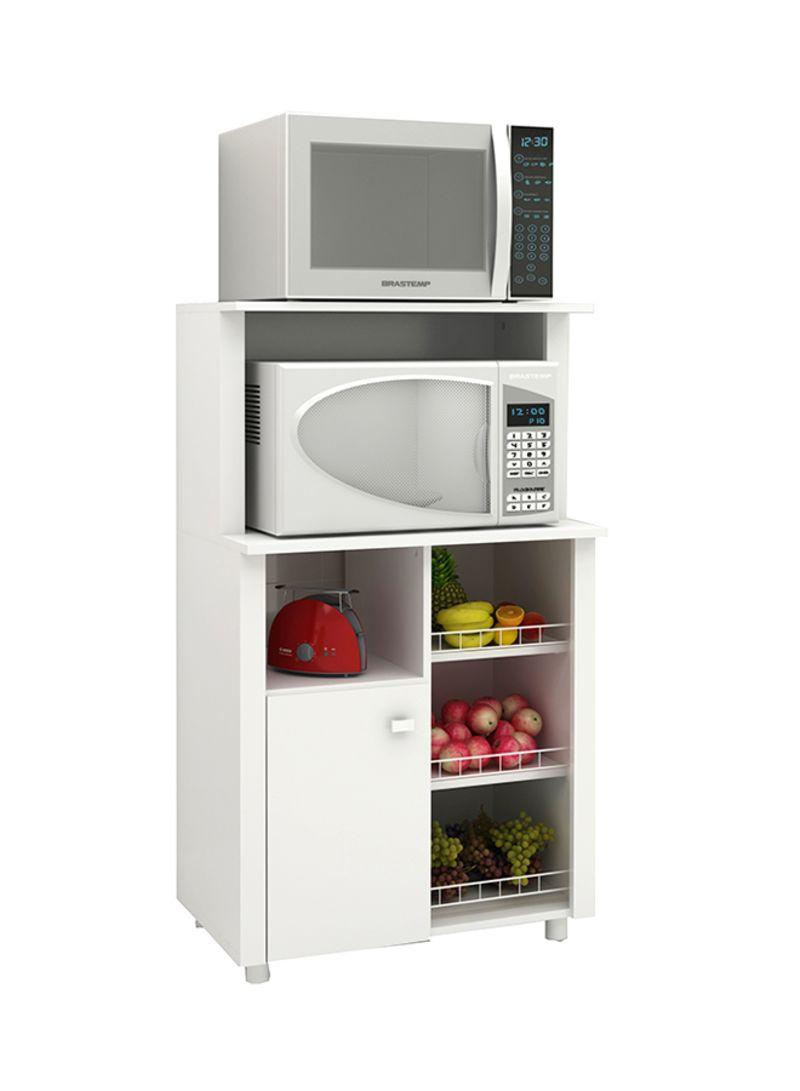 Shop Tecnomobili Storage Cabinet With Door And 3 Metal Rails White