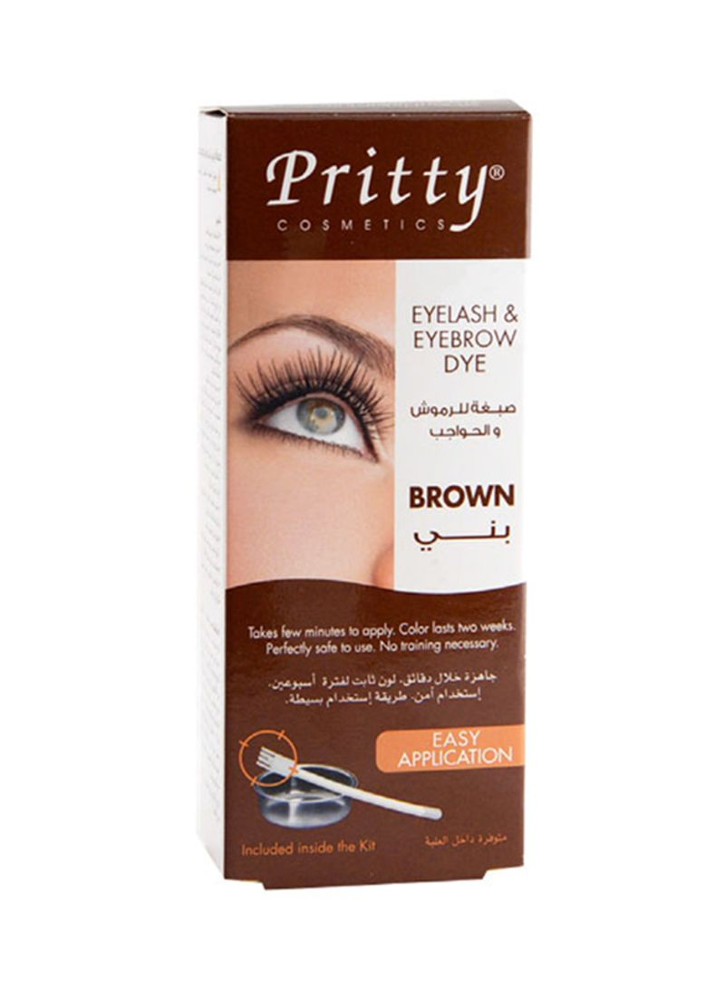 Shop Pritty Eyelash And Eyebrow Dye Kit Brown online in Riyadh, Jeddah and  all KSA
