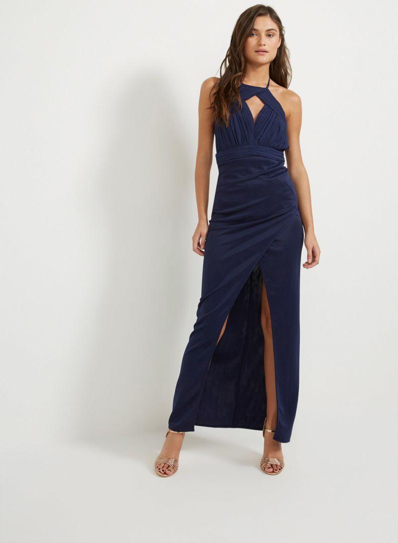 678b7c9ddb Shop TFNC London Senuri Maxi Dress Navy online in Riyadh