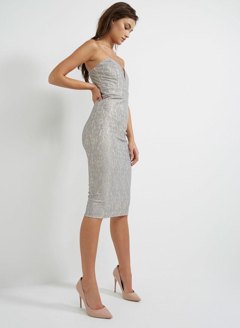 2f36818bf5 otherOffersImg v1514289879 N12362604V M1. TFNC London. Halo Midi Bodycon  Dress Grey