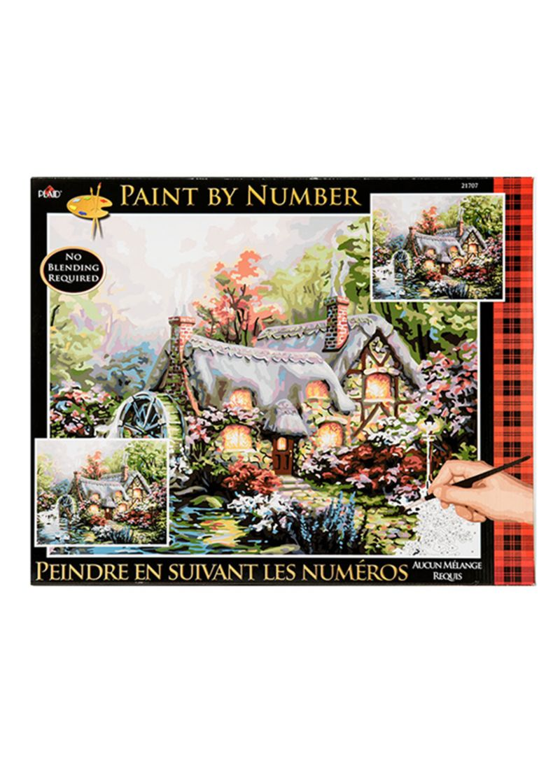 Shop PLAID Plaid Paint By Number Cottage Mill Painting Craft Yellow