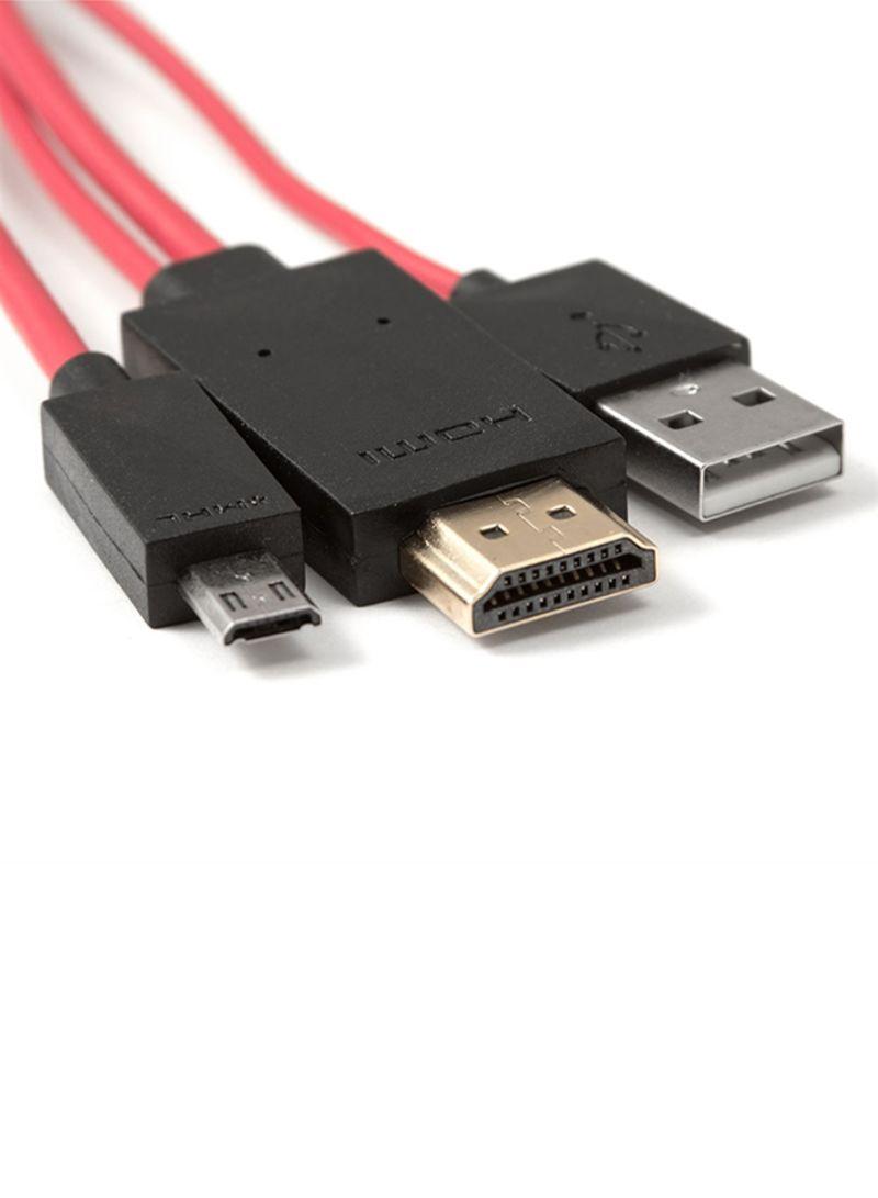 تسوق أو إي إم ومهايئ بكابل Mhl Micro Usb إلى Hdmi خاص باالتلفزيون