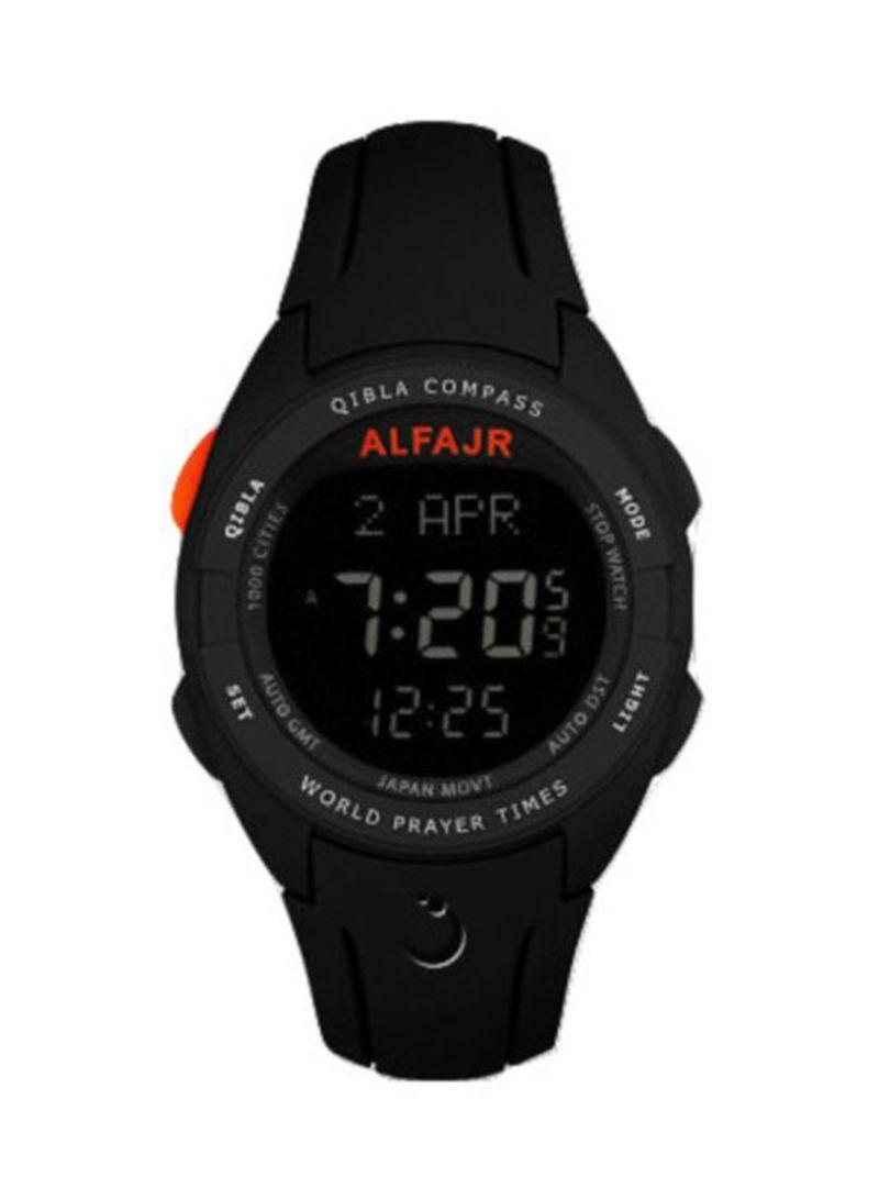 3e069d71d Shop Alfajr Men's Water Resistant Digital Watch WQ18 online in Dubai ...