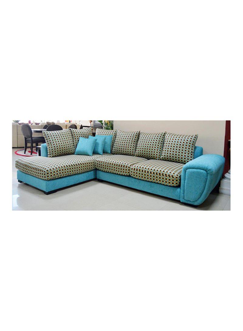 Shop Royal Alfa Corner Sofa Set Blue/Grey/Black 190X90