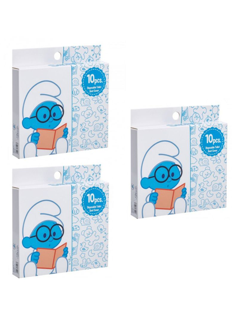 Marvelous Shop The Smurfs Pack Of 3 Disposable Toilet Seat Covers 10 Count Online In Dubai Abu Dhabi And All Uae Camellatalisay Diy Chair Ideas Camellatalisaycom