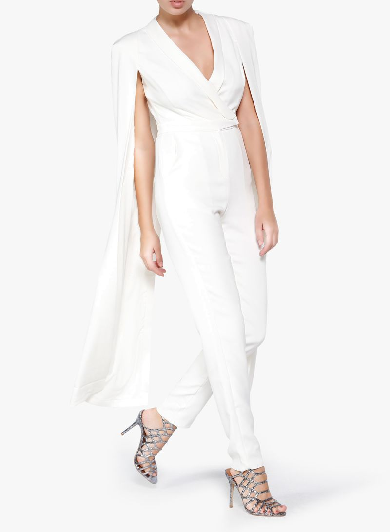 cca3f793e0cf Tailored Cape Jumpsuit Off White Price in Saudi Arabia