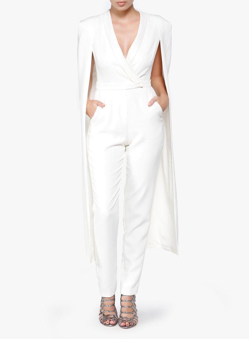 46aeb995b74f Shop Lavish Alice Tailored Cape Jumpsuit Off White online in Riyadh ...