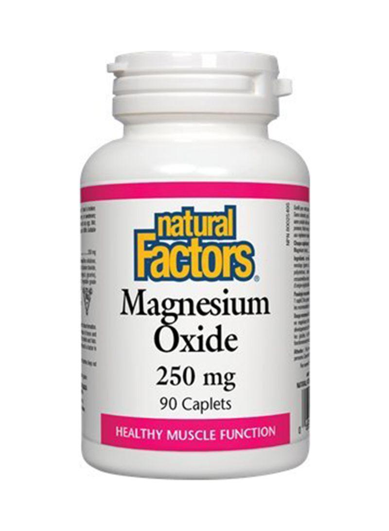 Shop Natural Factors Magnesium 90 Caplets Online In Dubai Abu Dhabi Puritans Pride Calcium Citrate Plus Vitamin D 100 Capsules