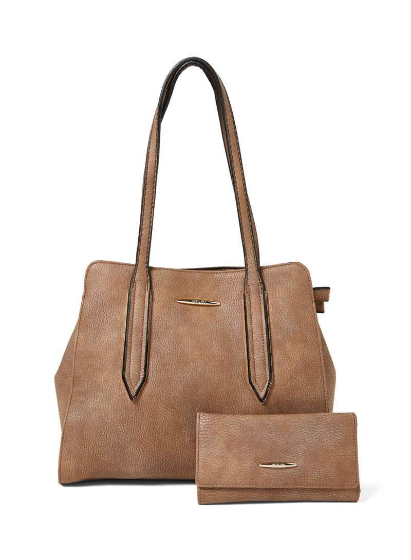a1683092336 Shop YUEJIN Faux Leather Shopper Bag With Wallet online in Dubai, Abu Dhabi  and all UAE