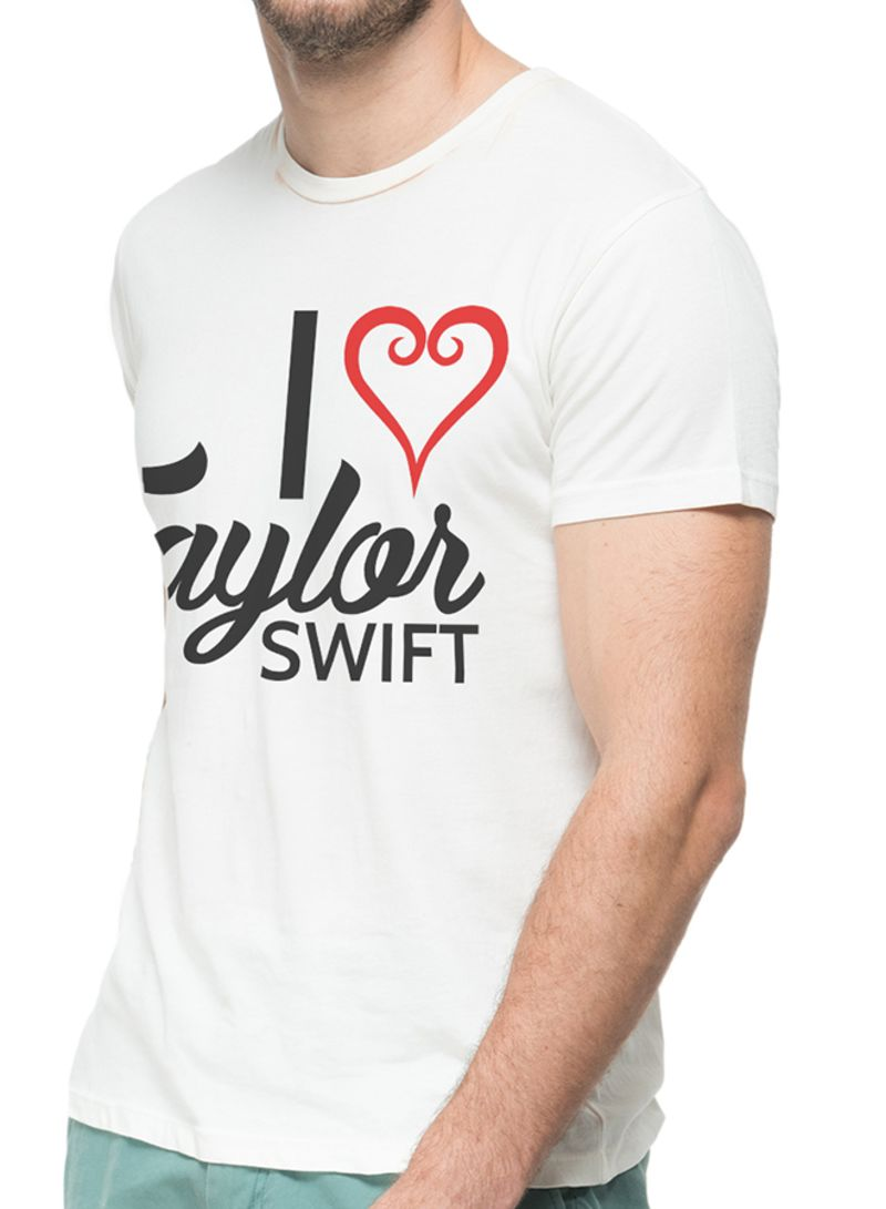 I Love Taylor Swift Graphic Printed T Shirt White Price In Uae Noon Uae Kanbkam