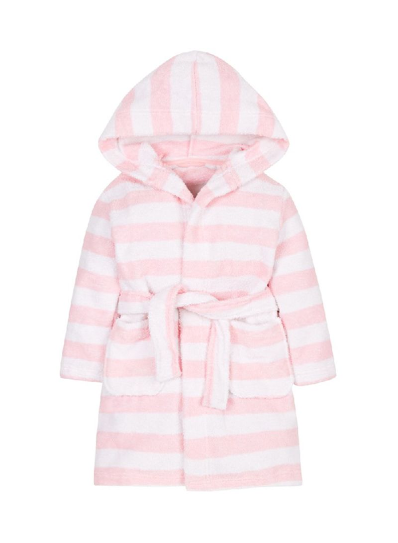 76bbda27c7 Shop mothercare Striped Towelling Robe Pink White online in Dubai ...