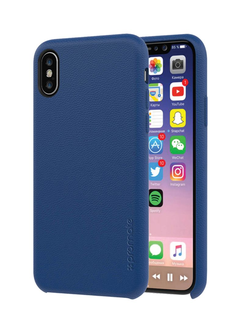 separation shoes 271e9 17a8f Shop Promate iPhone X Case, Premium Genuine Leather Slim Shock Absorbing  Case with Drop Protection and Excellent Grip 5.8 Inch Apple iPhone X Blue  ...