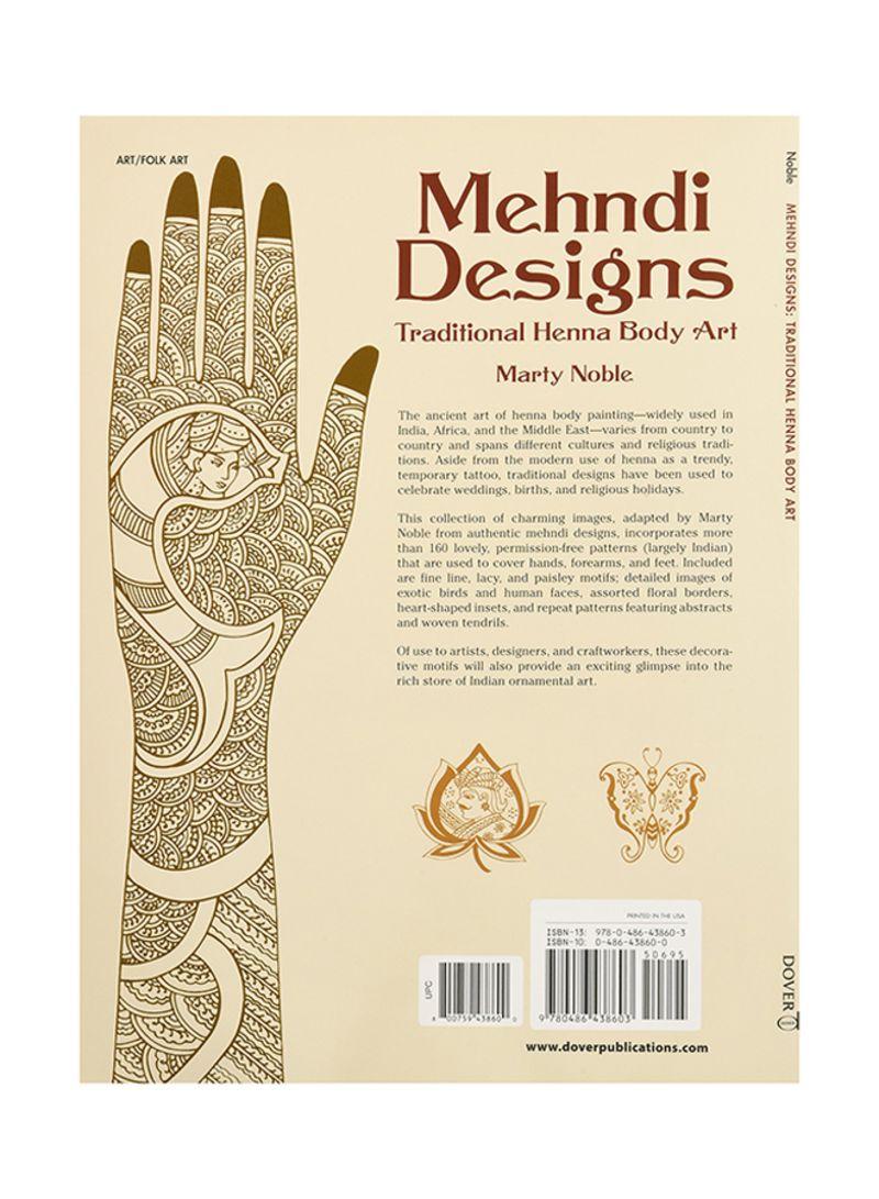 Shop Mehndi Designs Traditional Henna Body Art Paperback Online In Egypt
