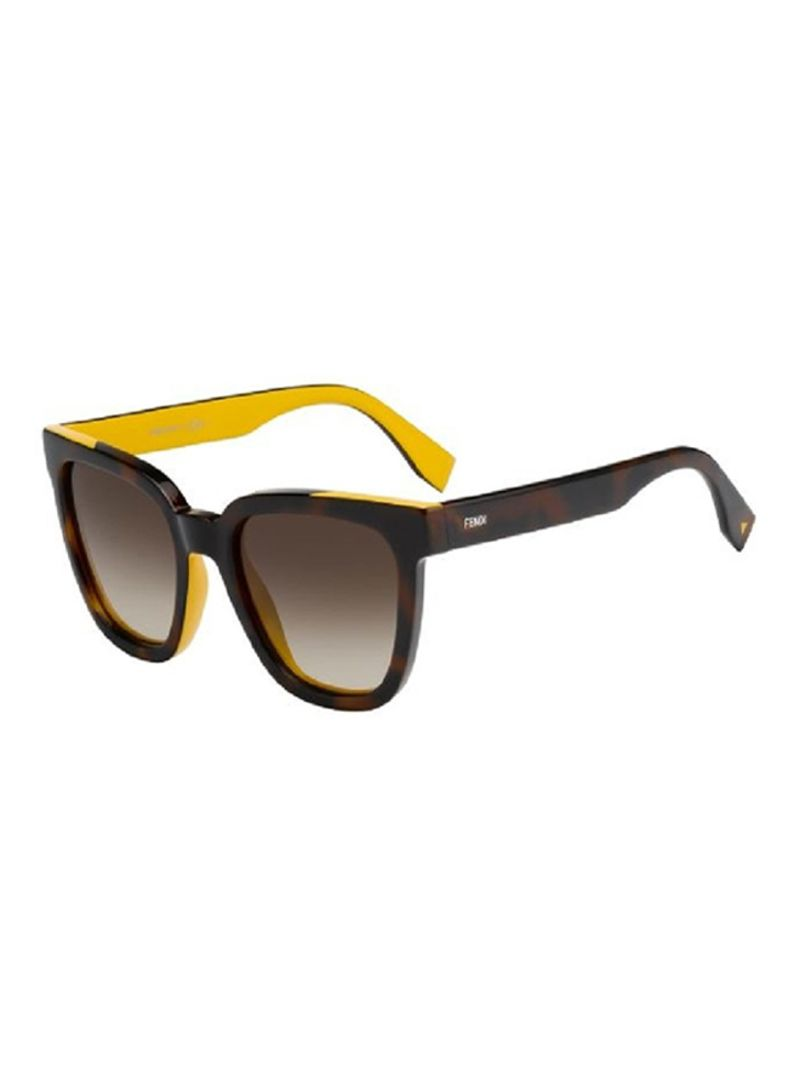 96aea16f64b81 Shop Fendi Women s Wayfarer Sunglasses FF0121-MFR-HA online in Dubai ...