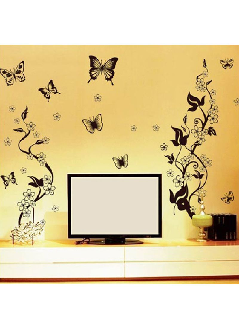 Butterfly Contrast Wall Decal Black 60x90 centimeter | Home Decor ...