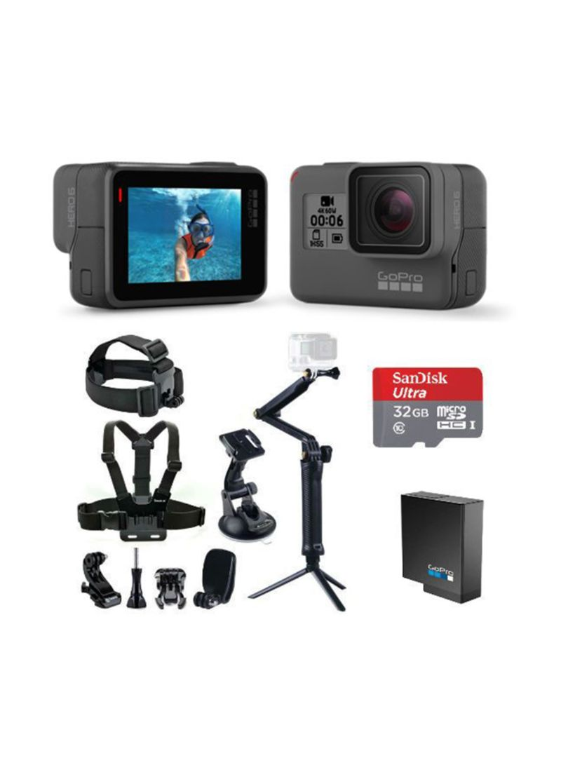Shop GoPro HERO6 Black With Smatree 9-In-1 Bundle online in Riyadh, Jeddah  and all KSA