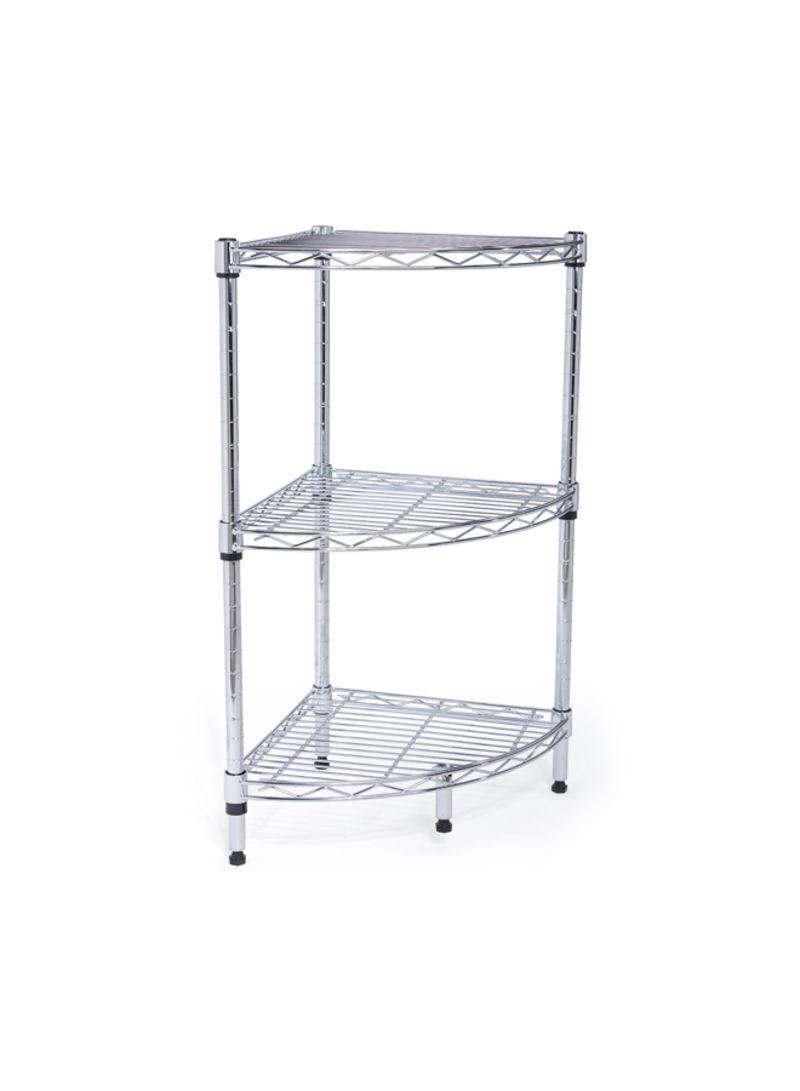 Corner Wire Shelving | Shop Camel Tough 3 Shelf Corner Wire Rack Htc Wr610 Silver Online In