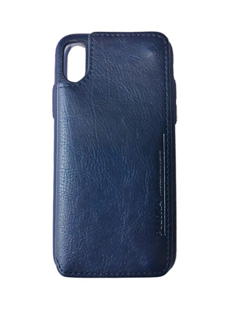 best sneakers 36fa0 62a9d Shop PULOKA Leather Multi-Function Back Clip Wallet Case For iPhone X Blue  online in Dubai, Abu Dhabi and all UAE