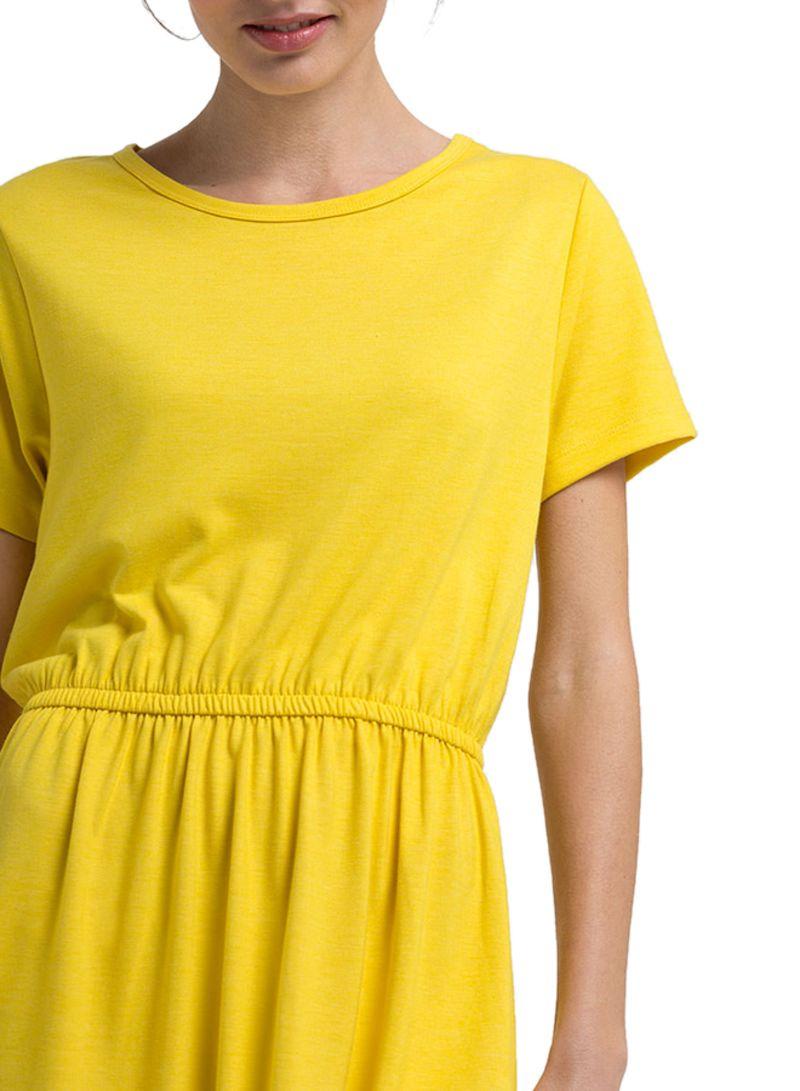 fa3854083dcb Shop Rina Mid Length A-Line Dress Yellow online in Dubai, Abu Dhabi ...