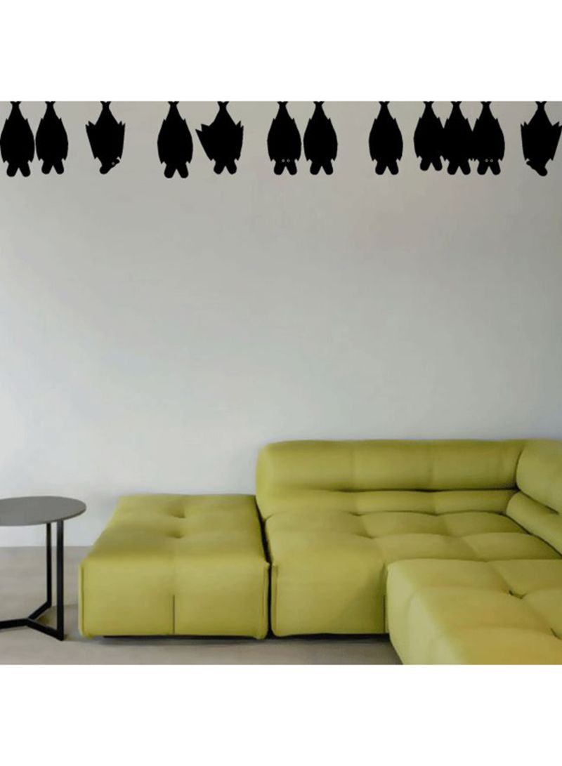 Sleeping Bats Wall Decal Black 150x20 centimeter | Home Decor ...