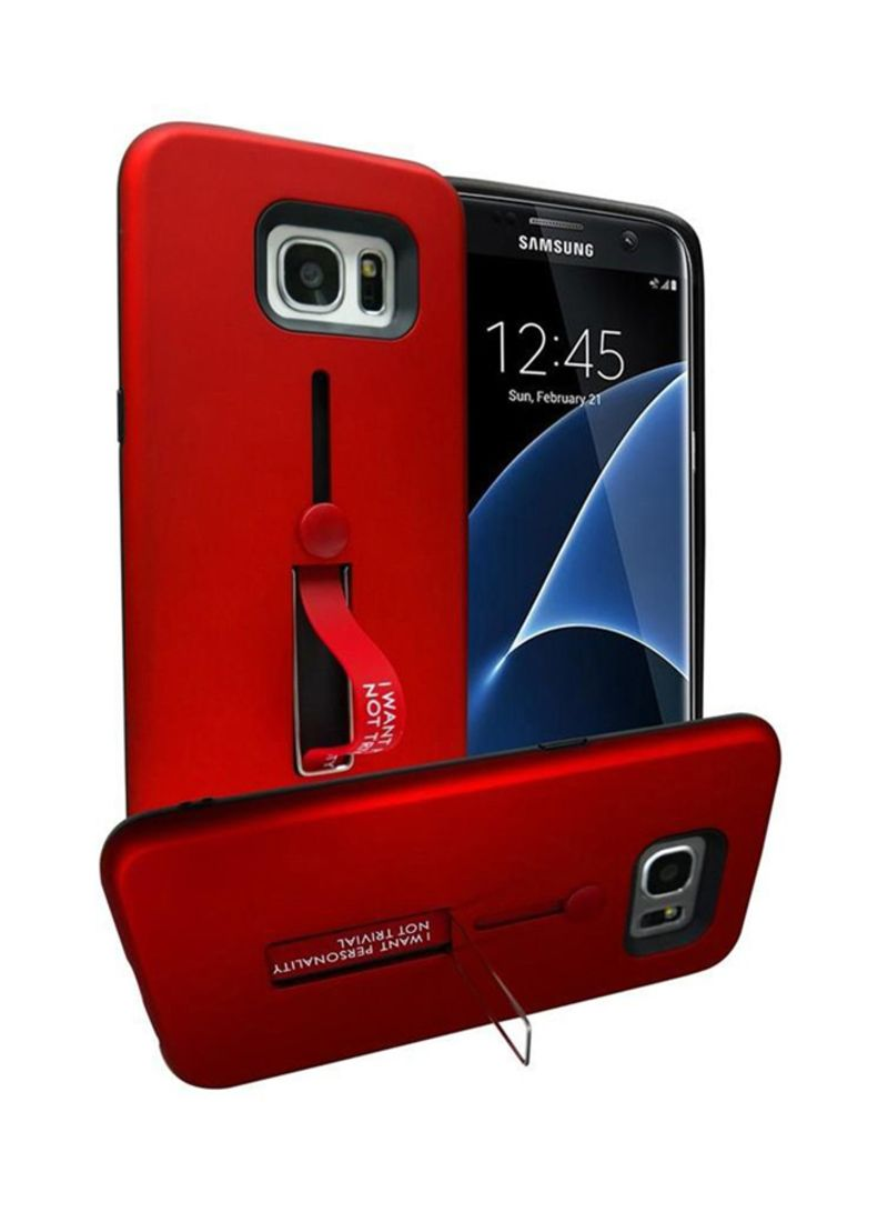 low priced 6791a eb4e6 Shop Generic Combination Shockproof Back Case Cover With Ring And Stand For  Samsung Galaxy S7 Edge Red online in Dubai, Abu Dhabi and all UAE