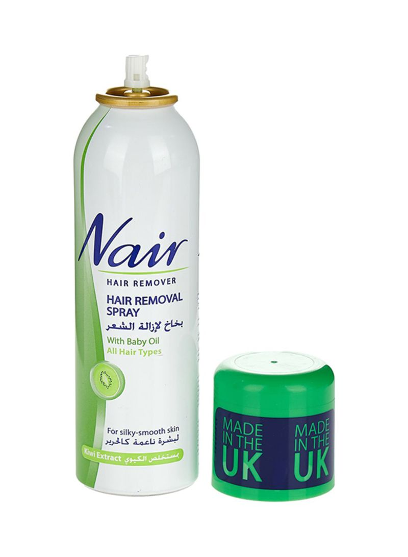 Shop Nair Kiwi Extract Hair Removal Spray With Baby Oil 200ml