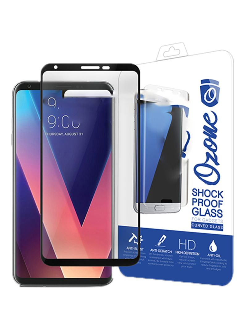 Shop Ozone Tempered Glass Screen Protector For LG V30 Black/Clear online in  Dubai, Abu Dhabi and all UAE
