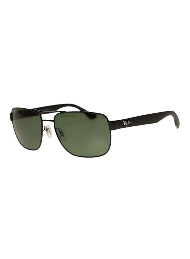 ccc8bd3b39a92 Shop Ray-Ban Men s Polarized Aviator Square Sunglasses RB3530 online ...