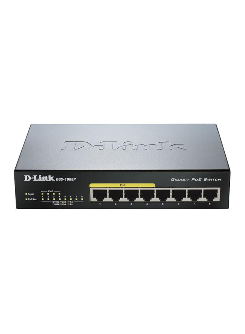 Shop D Link 8 Port PoE Smart Switch Black Online In Dubai Abu Dhabi