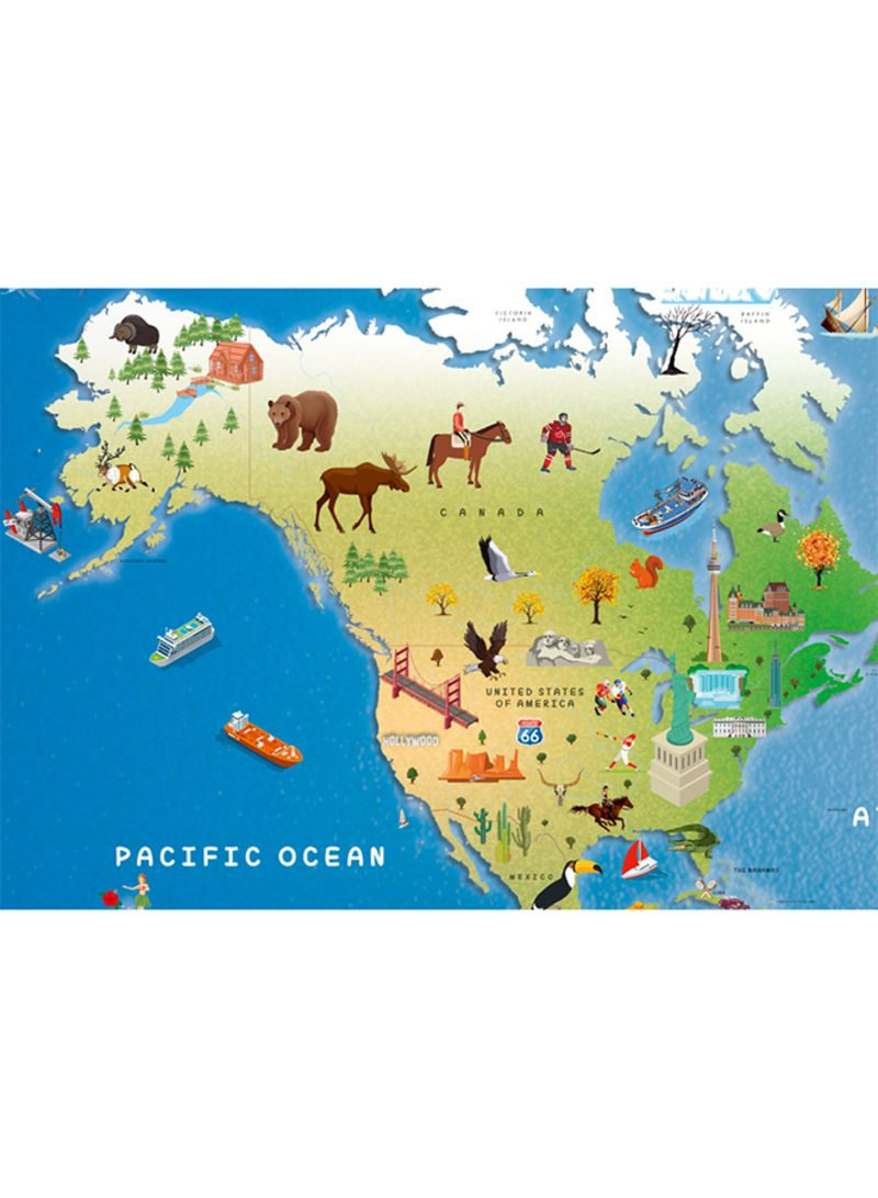 Shop Children\'s Illustrated World Map - Paperback 1 online in Dubai, Abu  Dhabi and all UAE