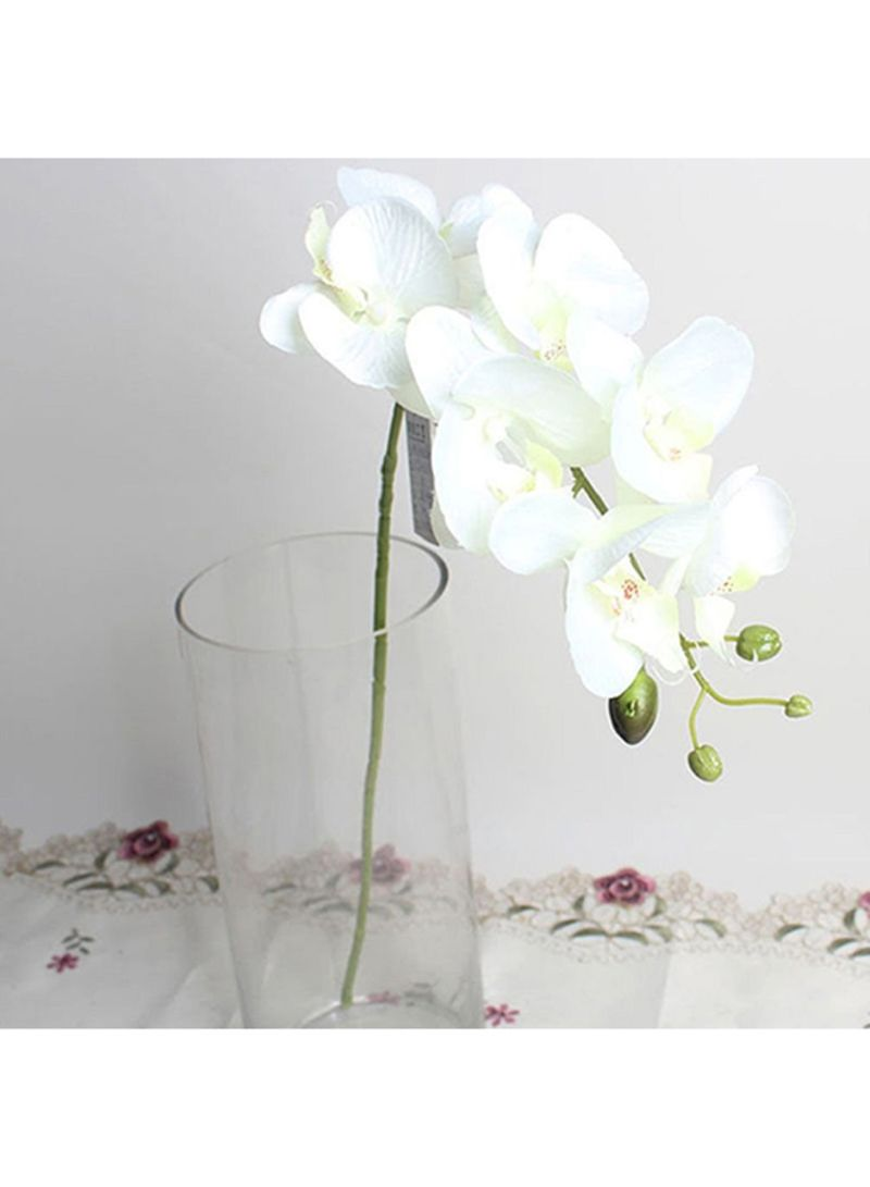 Shop Bluelans Single Piece Artificial Butterfly Orchid Flower White
