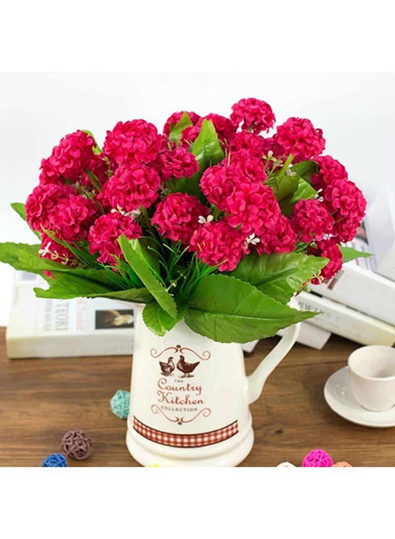 Shop Bluelans 9 Heads Artificial Hydrangea Silk Flower Bouquet Rose