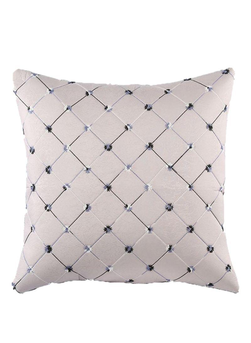 a1b5dd03934db تسوق بلولانز وغطاء زخرفي لوسادة زينة بتصميم مربعات رمادي فضي 43x43 ...