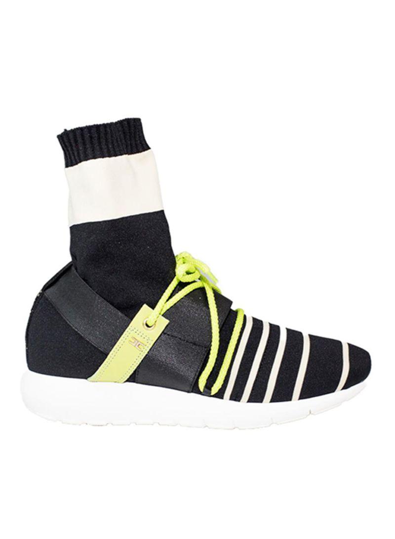 sale retailer b2f36 301dc Shop Elisabetta Franchi Sneakers With Inserted Socks online ...