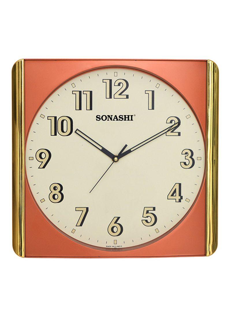 Shop Sonashi Analog Wall Clock With Silent Sweep Movement Redgold