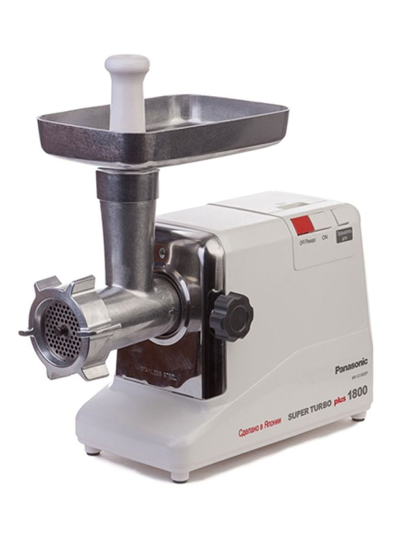 Shop Panasonic Meat Grinder 1800W MKG1800 White/Silver online in Dubai, Abu  Dhabi and all UAE