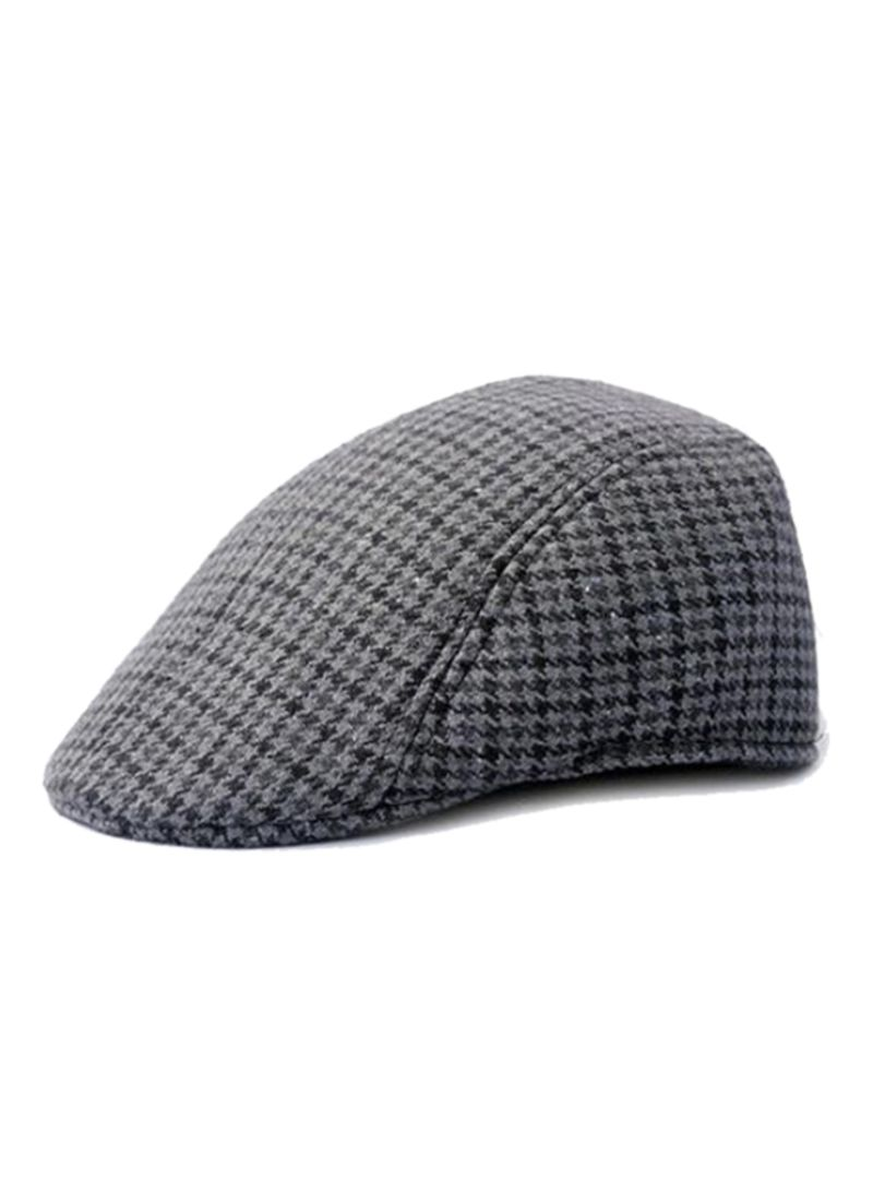 4be737a2d9663 Shop Bluelans Flat Herringbone Country Peak Cap Dark Grey online in ...