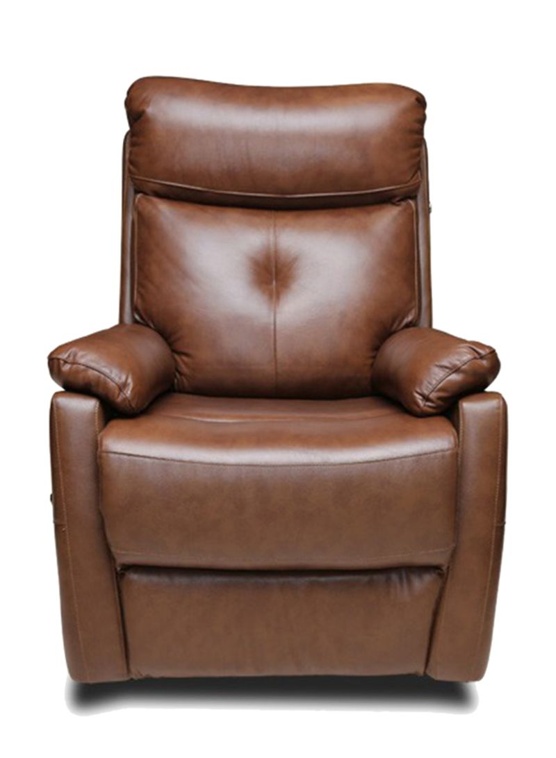 Shop Pan Emirates Corrine Single Seater Recliner Sofa Brown Online