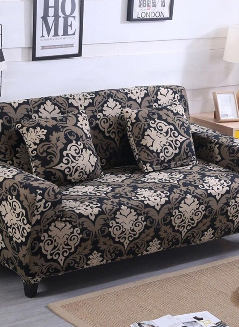 Shop Deals for Less 2-Seater Bohemia Design Sofa Cover Brown/Beige/Black  145x185 centimeter online in Dubai, Abu Dhabi and all UAE