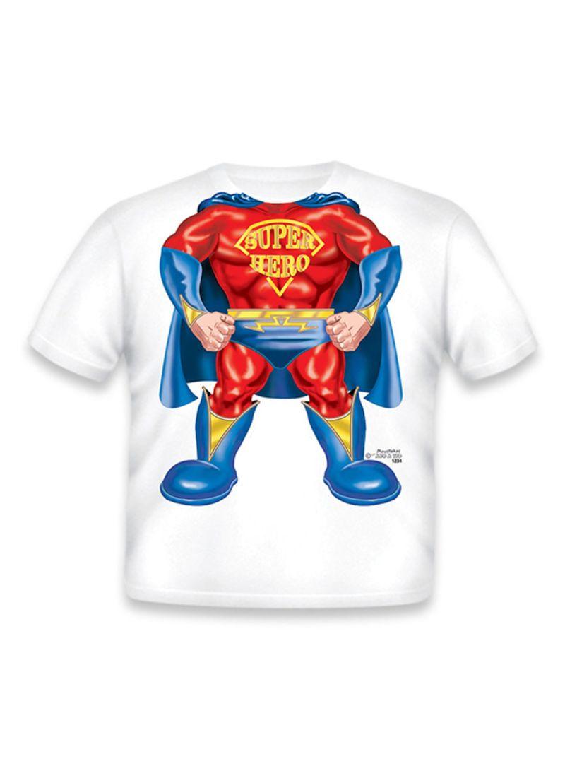 ebc9e853 Shop JUST ADD A KID Super Hero T-Shirt Red/Blue/White online in ...