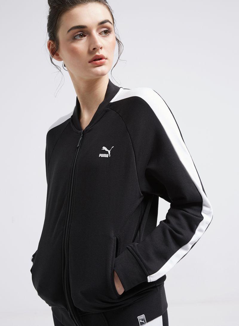 e2c80a466013 Shop Puma T7 Classics Track Jacket Black White online in Dubai