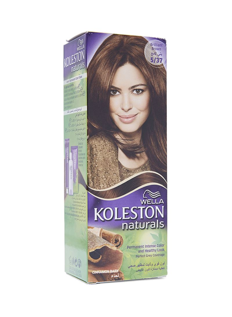 Shop Wella Koleston Natural Hair Colour Brilliant Brown 537 110 Ml