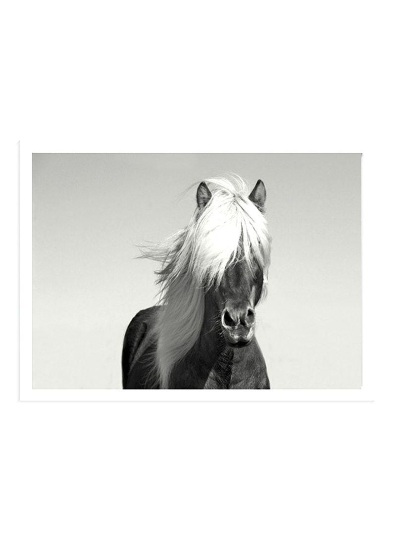 Black Horse Wall Art Painting With Frame Black White 32 X 22centimeter Price In Saudi Arabia Noon Saudi Arabia Kanbkam