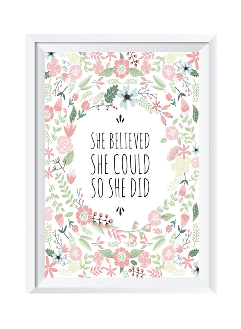 Shop Lowha She Believed She Could So She Did Wall Art Painting With