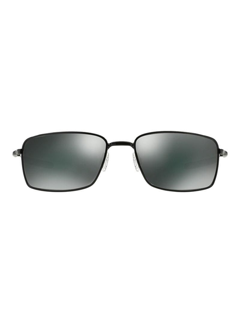 12ea8a15f5fed Shop OAKLEY Men s UV Protected Rectangular Frame Sunglasses OO4075 ...