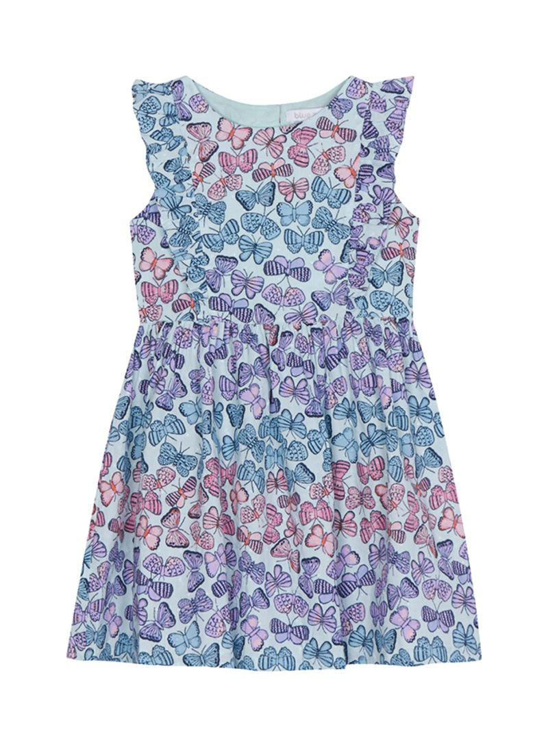 Debenhams Kids 2 Pack Light Blue Gingham Dresses