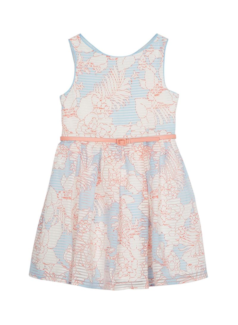 42d05a3106 Shop Debenhams Kids J By Jasper Conran Floral Print Prom Dress Blue ...