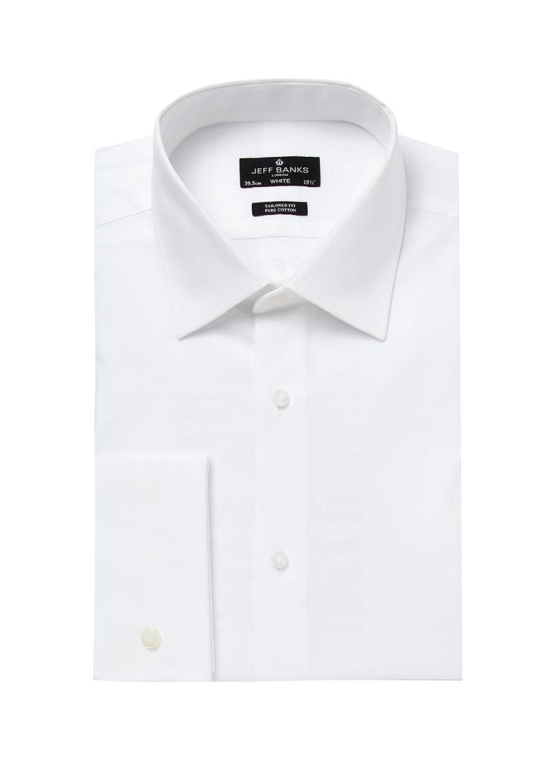 Shop Debenhams Jeff Banks Designer Tailor Cutaway Collar Shirt White